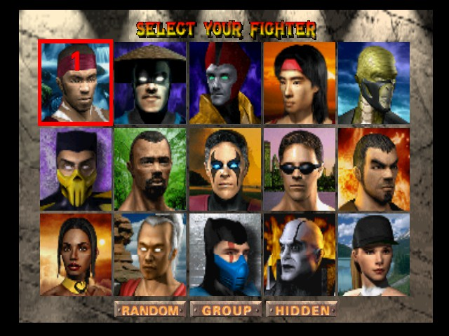 Mortal Kombat 4 - Character Select  -  - User Screenshot